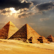 Giza pyramids, cairo, egypt — Photo