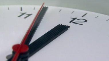 Close up of a clock ticking — ストックビデオ
