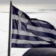 Greek Flag waving in the wind — Stock Video