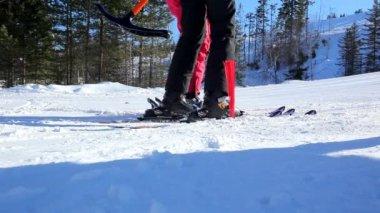Skilift in Zweden — Stockvideo