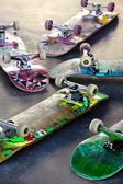 Old Skateboards — Stock Photo