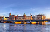 Scenic panorama of Stockholm — Stock Photo