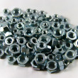 Lot of Hex Nuts — Stock Photo