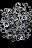 Lot of Hex Nuts — 图库照片