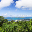 Stock Photo: Top view to Victoritown. Seychelles island mahe.