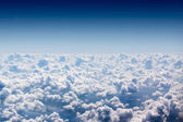 Cloudscape. Blue sky and white cloud. — Stock Photo