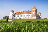Castle in the town of Mir. Belarus. — Foto de Stock