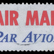 Stock Photo: USA-CIRC1973: United States Airmail postage sticker, showing