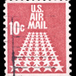 Stock Photo: USA-CIRC1968: 10 cent United States Airmail postage stamp sh