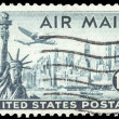 Stock Photo: USA-CIRC1947: 15 cent United States Airmail postage stamp, s