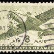 Stock Photo: USA-CIRC1944: 8 cent United States Airmail postage stamp sh