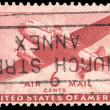 USA-CIRCA 1941: A 6 cent United States Airmail postage stamp sho — Stock Photo