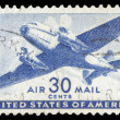 Stock Photo: USA-CIRC1941: 30 cent United States Airmail postage stamp sh