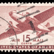 Stock Photo: USA-CIRC1941: 15 cent United States Airmail postage stamp sh