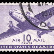 Stock Photo: USA-CIRC1941: 10 cent United States Airmail postage stamp sh