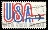 USA-CIRCA 1968: A 20 cent United States Airmail postage stamp sh — Stock Photo