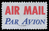 USA-CIRCA 1973: A United States Airmail postage sticker, showing — Stock Photo