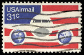 USA-CIRCA 1976: A 21 cent United States Airmail postage stamp, s — Stock Photo