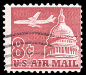 USA-CIRCA 1962: An 8 cent United States Airmail postage stamp sh — Foto de Stock