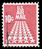 USA-CIRCA 1968: A 10 cent United States Airmail postage stamp sh — Stock Photo