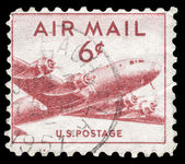 USA-CIRCA 1949: A 15 cent United States Airmail postage stamp sh — Stock Photo