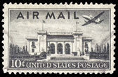USA-CIRCA 1947: A 10 cent United States Airmail postage stamp, s — Stock Photo