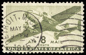 USA-CIRCA 1944: An 8 cent United States Airmail postage stamp sh — Stock Photo