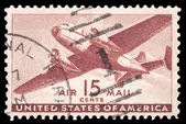 USA-CIRCA 1941: A 15 cent United States Airmail postage stamp sh — Stock Photo