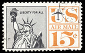 USA-CIRCA 1961: A 15 cent United States Airmail postage stamp sh — Stock Photo