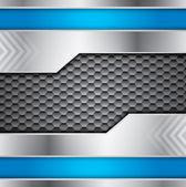 Fondo abstracto vector metálico con colores azules y acero — Vector de stock