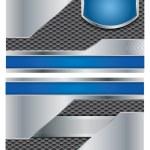 Abstract metallic vector brochure — Stock Vector #12270218