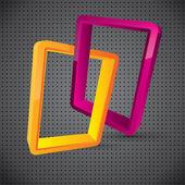 Abstract logo style vector composition — Stock Vector