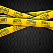 Under construction caution tapes, vector - Stock Vector