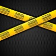 Under construction caution tape, vector — Stock Vector