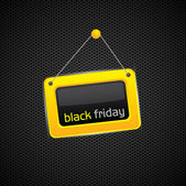 Hanging Black Friday sign — Stock Vector