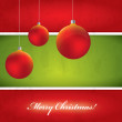 Christmas vector background - green and red — Stock Vector