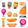 Labels - special offer and sale stickers — Stock Vector