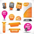 Stock Vector: Labels - special offer and sale stickers