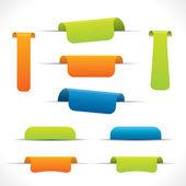 Label set, colorful vector design elements — Stock Vector