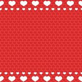 Seamless red heart pattern - valentine wrapping design — Stock Vector
