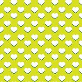 Seamless heart pattern with retro green colors - valentine wrapping design — Stock Vector