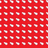 Modello di cuore - san valentino avvolgendo design con cuori bianchi — Vettoriale Stock
