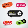 Stock Vector: Dog and cat labeled pet store bubbles