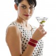 Woman and drink — Stock Photo