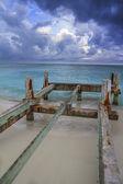 Pier under construction — Stock Photo