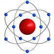 Atomic structure — Stock Photo