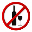 Alcohol not allowed — Stock Photo #30537793