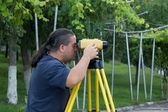 Land surveyor — Stock Photo