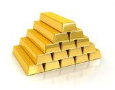 Gold bullions — Stock Photo