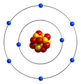 Atomic structure of oxygen — Stock Photo